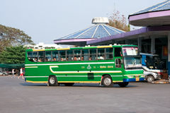 Greenbus company bus route Chiangrai and Chiangmai. Royalty Free Stock Image