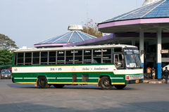 Greenbus company bus route golden-triangle and Chiangmai. Royalty Free Stock Image