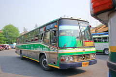 Greenbus company bus route Lampang and Chiangmai. Royalty Free Stock Photography