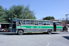 Greenbus company bus route Lampang and Chiangmai. Royalty Free Stock Images