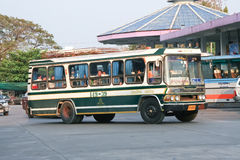 Greenbus company bus route Maesai ( Chiangrai ) and Chiangmai. Stock Photography