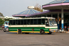 Greenbus company bus route Phayao and Chiangmai Royalty Free Stock Images