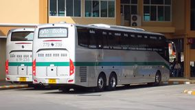 Greenbus company bus route Phuket and Chiangmai. CHIANGMAI, THAILAND - MAY 24 2012 : Greenbus company bus route Phuket and Chiangmai. Footage at Chiangmai Bus stock footage