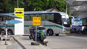 Greenbus company bus route Phuket and Chiangmai. CHIANGMAI, THAILAND - MAY 24 2012 : Greenbus company bus route Phuket and Chiangmai. Footage at Chiangmai Bus stock video footage