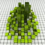 GreenCity. Abstract green high boxes (city stock illustration