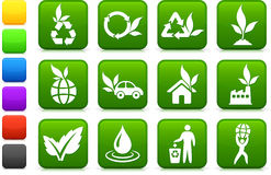 Greener environment icon collection Royalty Free Stock Photos