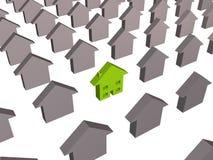 Greener house stock photo