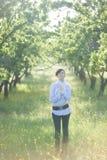 greenery девушки унылый Стоковое Фото