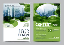Greenery Brochure Layout design template. Annual Report Flyer Leaflet cover Presentation Modern background. illustration  in Stock Photography