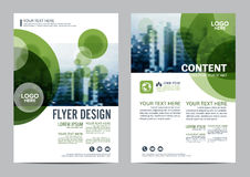 Greenery Brochure Layout design template. Annual Report Flyer Leaflet cover Presentation Modern background. illustration  in Stock Images