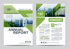Greenery Brochure Layout design template. Annual Report Flyer Leaflet cover Presentation Modern background. illustration  in Royalty Free Stock Image