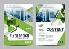 Greenery Brochure Layout design template. Annual Report Flyer Leaflet cover Presentation Modern background. illustration  in Royalty Free Stock Photography
