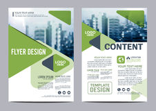 Greenery Brochure Layout design template. Annual Report Flyer Leaflet cover Presentation Modern background. illustration  in Stock Image