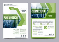Greenery Brochure Layout design template. Annual Report Flyer Leaflet cover Presentation Modern background. illustration  in Royalty Free Stock Photo