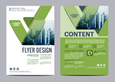 Greenery Brochure Layout design template. Annual Report Flyer Leaflet cover Presentation Modern background. illustration  in Stock Photo