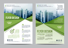 Greenery Brochure Layout design template. Annual Report Flyer Leaflet cover Presentation Royalty Free Stock Photos