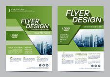 Greenery Brochure Layout design template. Annual Report Flyer Leaflet cover Presentation Stock Image