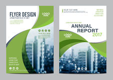 Greenery Brochure Layout design template. Annual Report Flyer Leaflet cover Presentation vector illustration
