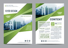 Greenery Brochure Layout design template. Annual Report Flyer Leaflet cover Presentation Royalty Free Stock Images