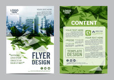 Greenery Brochure Layout design template. Annual Report Flyer Leaflet cover Presentation Modern background.  Royalty Free Stock Image