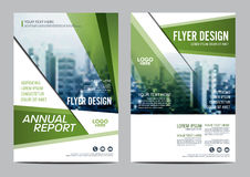 Greenery Brochure Layout design template. Annual Report Flyer Leaflet cover  Stock Photos
