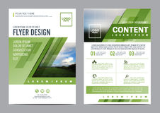 Greenery Brochure Layout design template. Annual Report Flyer Leaflet cover Presentation Modern background. illustration vector Royalty Free Stock Photography