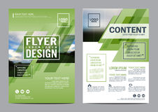 Greenery Brochure Layout design template. Annual Report Flyer Leaflet cover Presentation Modern background. illustration vector Stock Photography