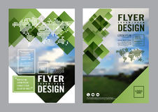 Greenery Brochure Layout design template. Annual Report Flyer Leaflet cover Presentation Modern background. illustration vector Stock Photo