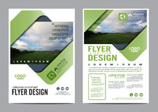 Greenery Brochure Layout design template. vector illustration