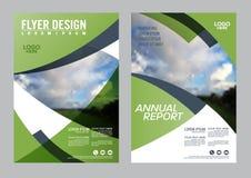 Greenery Brochure Layout design template. vector illustration