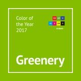 Greenery color sample Stock Photos