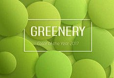 Greenery 2017 color of the year Stock Photos