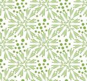 Greenery dandelion seamless pattern wallpaper Stock Images