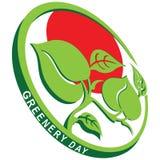 Greenery Day emblem Stock Image