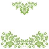 Greenery eco floral frame, background decoration Stock Image