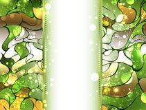 Greenery gem background Stock Images