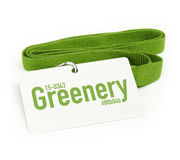 Greenery Green Color Badge Stock Image