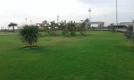 Greenery. The Green park of bharia town in karachi Royalty Free Stock Photos