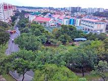 Greenery in housing estate Stock Image