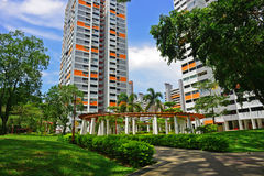 Greenery in the housing of Singapore housing Royalty Free Stock Images