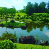 Japanese garden in Singapore stock photos