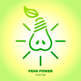 Greenery pear logo. Environment concept. Icon ecology green energy. Royalty Free Stock Photography