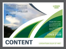 Greenery Presentation layout design template. Annual report cover page. Stock Photos