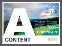Greenery Presentation layout design template. Annual report cover page. Royalty Free Stock Photo