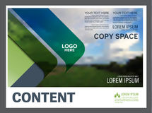 Greenery Presentation layout design template. Annual report cover page. Royalty Free Stock Photos