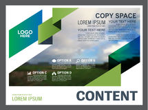 Greenery Presentation layout design template. Annual report cover page. Stock Photo