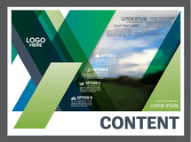 Greenery Presentation layout design template. Annual report cover page. Royalty Free Stock Photography