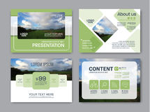 Greenery Presentation layout design template. Annual report cover page. Royalty Free Stock Image
