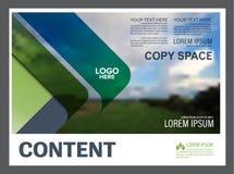 Greenery prezentaci układu projekta szablon Sprawozdanie roczne okładkowa strona Zdjęcia Royalty Free