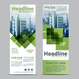 Greenery Roll up layout template mock up. flag flyer banner backdrop design. vector illustration background Royalty Free Stock Images